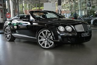 2010 Bentley Continental 3W MY11 GTC Black 6 Speed Sports Automatic Convertible.