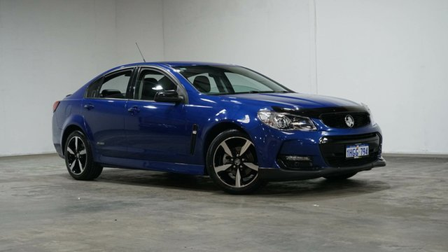 Used Holden Commodore VF II MY16 SV6 Black Welshpool, 2016 Holden Commodore VF II MY16 SV6 Black Blue 6 Speed Sports Automatic Sedan