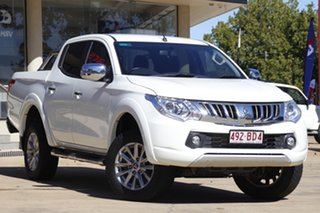 2016 Mitsubishi Triton MQ MY16 GLS Double Cab White 6 Speed Manual Utility.