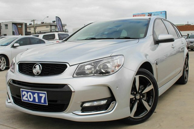 Used Holden Commodore VF II MY17 SV6 Sportwagon Coburg North, 2017 Holden Commodore VF II MY17 SV6 Sportwagon Silver 6 Speed Sports Automatic Wagon