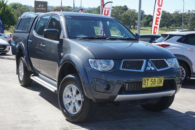 Used Mitsubishi Triton MN MY13 GL-R Double Cab Phillip, 2013 Mitsubishi Triton MN MY13 GL-R Double Cab Grey 4 Speed Sports Automatic Utility