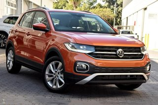 2020 Volkswagen T-Cross C1 MY20 85TSI DSG FWD Style Orange 7 Speed Sports Automatic Dual Clutch.
