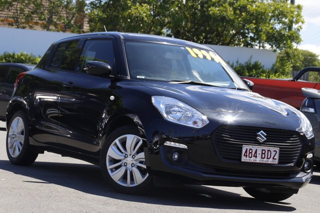 Used Suzuki Swift AZ GL Navigator Mount Gravatt, 2019 Suzuki Swift AZ GL Navigator Black 1 Speed Constant Variable Hatchback