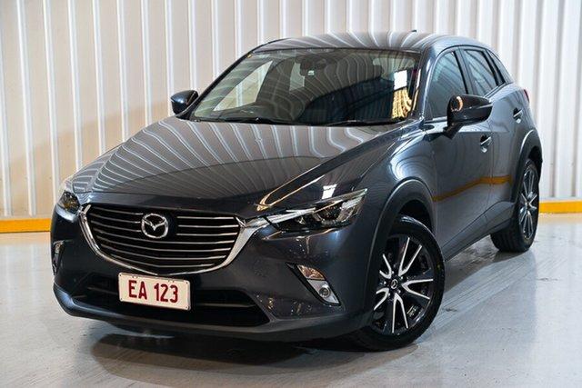 Used Mazda CX-3 DK4W7A sTouring SKYACTIV-Drive i-ACTIV AWD Hendra, 2017 Mazda CX-3 DK4W7A sTouring SKYACTIV-Drive i-ACTIV AWD Grey 6 Speed Sports Automatic Wagon