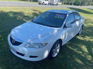 2003 Mazda 6 GG1031 Luxury White 4 Speed Sports Automatic Sedan.