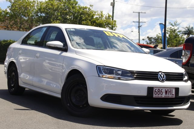 Used Volkswagen Jetta 1KM MY10 118TSI DSG Mount Gravatt, 2011 Volkswagen Jetta 1KM MY10 118TSI DSG White 7 Speed Sports Automatic Dual Clutch Sedan