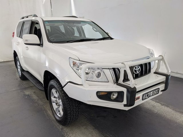 Used Toyota Landcruiser Prado GRJ150R GXL Maryville, 2011 Toyota Landcruiser Prado GRJ150R GXL White 5 Speed Sports Automatic Wagon