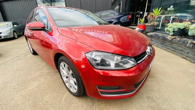Used Volkswagen Golf VII MY14 110TDI DSG Highline Maidstone, 2013 Volkswagen Golf VII MY14 110TDI DSG Highline Red 6 Speed Sports Automatic Dual Clutch Hatchback