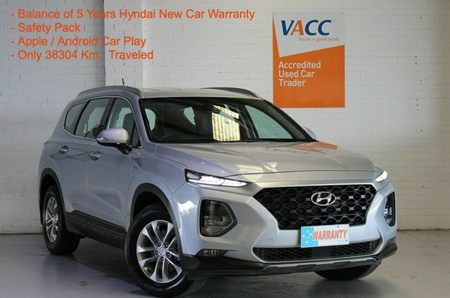 Used Hyundai Santa Fe TM MY19 Active Moorabbin, 2019 Hyundai Santa Fe TM MY19 Active Silver 8 Speed Sports Automatic Wagon