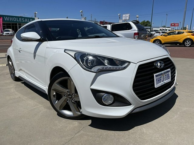 Used Hyundai Veloster FS MY13 SR Turbo Victoria Park, 2014 Hyundai Veloster FS MY13 SR Turbo White 6 Speed Automatic Coupe