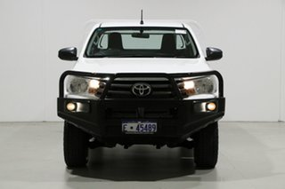 2015 Toyota Hilux GUN126R SR (4x4) White 6 Speed Manual Cab Chassis.