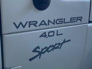 2001 Jeep Wrangler TJ Sport Silver 5 Speed Manual Softtop