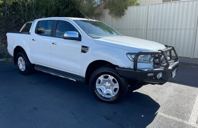 Used Ford Ranger PX MkII XLT Double Cab Glenorchy, 2017 Ford Ranger PX MkII XLT Double Cab White 6 Speed Manual Utility