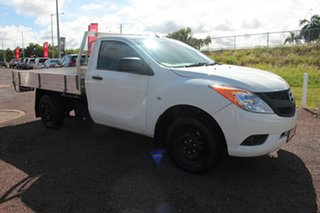 2014 Mazda BT-50 UP0YD1 XT 4x2 White Nova 6 Speed Manual Cab Chassis.