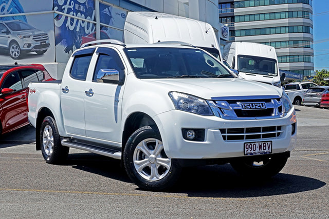 Used Isuzu D-MAX MY15 LS-Terrain Crew Cab Springwood, 2015 Isuzu D-MAX MY15 LS-Terrain Crew Cab White 5 Speed Sports Automatic Utility