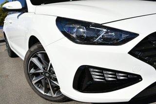 2020 Hyundai i30 PD.V4 MY21 Active Polar White 6 Speed Automatic Hatchback.