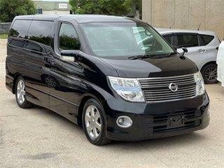 2008 Nissan Elgrand E51 Black Automatic Wagon.