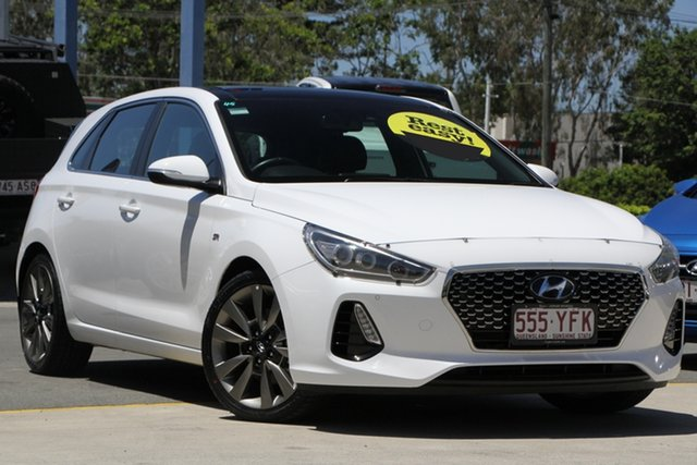 Used Hyundai i30 GD5 Series II MY17 SR Premium Aspley, 2017 Hyundai i30 GD5 Series II MY17 SR Premium White 6 Speed Sports Automatic Hatchback