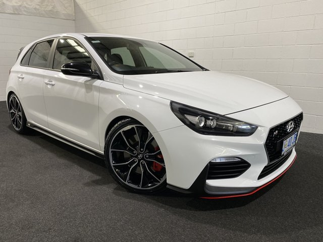 Used Hyundai i30 PDe MY18 N Performance Glenorchy, 2018 Hyundai i30 PDe MY18 N Performance Polar White 6 Speed Manual Hatchback