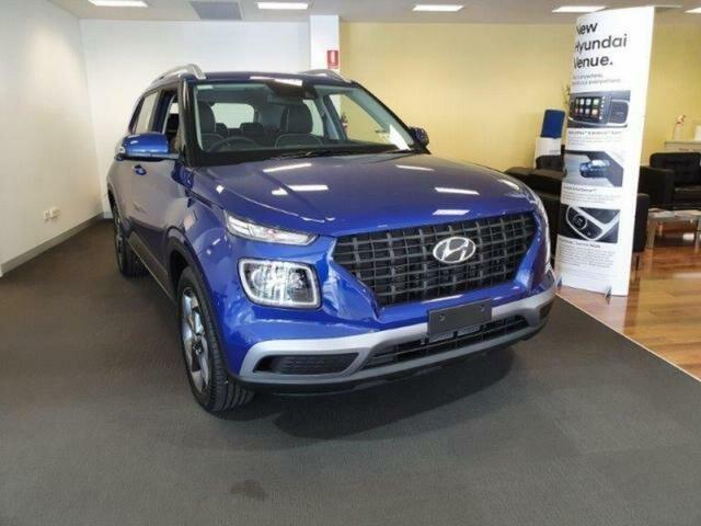 New Hyundai Venue Wangaratta, 2020 Hyundai Venue Intense Blue 6 Speed Automatic VENUE (QX) 5 Seater Wagon