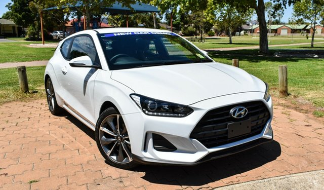 Demo Hyundai Veloster JS MY20 Coupe Ingle Farm, 2019 Hyundai Veloster JS MY20 Coupe Chalk White 6 Speed Automatic Hatchback