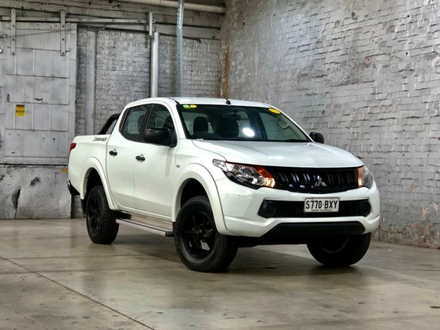 Used Mitsubishi Triton MQ MY18 GLX+ Double Cab Mile End South, 2018 Mitsubishi Triton MQ MY18 GLX+ Double Cab White 6 Speed Manual Utility