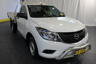 2016 Mazda BT-50 MY16 XT Hi-Rider (4x2) White 6 Speed Manual Cab Chassis.
