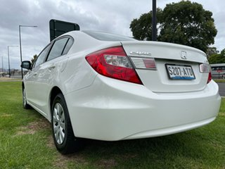 2012 Honda Civic 9th Gen Ser II VTi White 5 Speed Sports Automatic Sedan