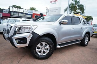 2015 Nissan Navara NP300 D23 ST (4x4) Silver 7 Speed Automatic Dual Cab Utility.
