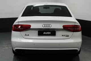 2014 Audi A4 B8 8K MY14 S Tronic Quattro White 7 Speed Sports Automatic Dual Clutch Sedan