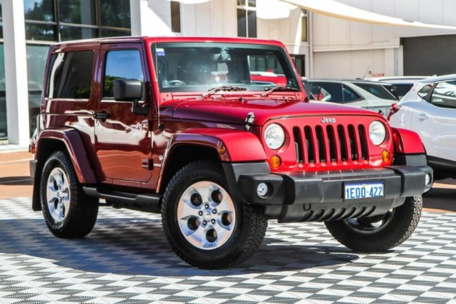 Used Jeep Wrangler JK MY2013 Overland Attadale, 2013 Jeep Wrangler JK MY2013 Overland Red/Black 5 Speed Automatic Hardtop