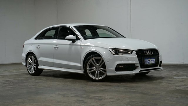 Used Audi A3 8V MY15 Ambition S Tronic Quattro Welshpool, 2014 Audi A3 8V MY15 Ambition S Tronic Quattro Glacier White 6 Speed Sports Automatic Dual Clutch