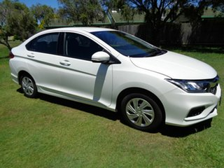 2017 Honda City GM MY18 VTi White 1 Speed Constant Variable Sedan.