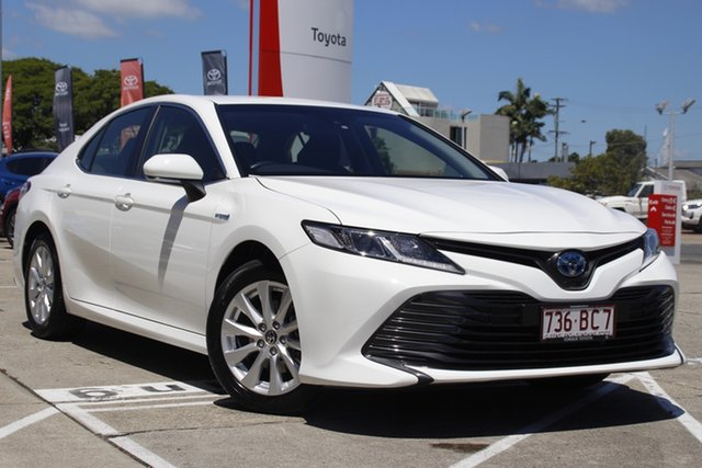 Pre-Owned Toyota Camry AXVH71R Ascent Albion, 2019 Toyota Camry AXVH71R Ascent Glacier White 6 Speed Constant Variable Sedan Hybrid