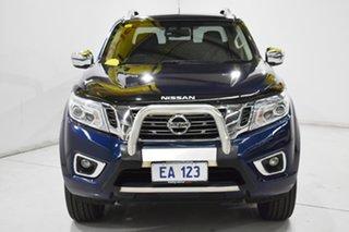 2017 Nissan Navara D23 Series II ST-X (4x4) Blue 7 Speed Automatic Dual Cab Utility.