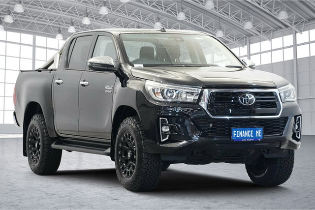 Used Toyota Hilux GUN126R SR5 Double Cab Victoria Park, 2020 Toyota Hilux GUN126R SR5 Double Cab Black 6 Speed Sports Automatic Utility