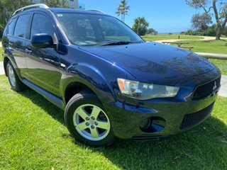 2010 Mitsubishi Outlander ZH MY10 LS Blue 6 Speed Constant Variable Wagon.