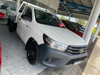 2020 Toyota Hilux Workmate White Manual Cab Chassis - Single Cab