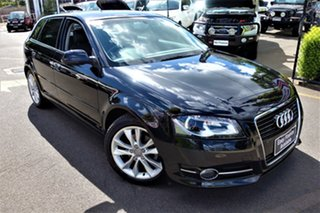 2011 Audi A3 8P MY11 Attraction Sportback S Tronic Black 7 Speed Sports Automatic Dual Clutch.