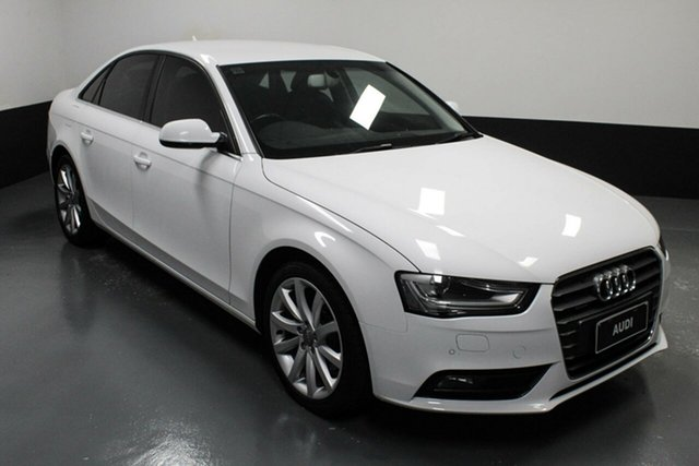 Used Audi A4 B8 8K MY14 S Tronic Quattro Hamilton, 2014 Audi A4 B8 8K MY14 S Tronic Quattro White 7 Speed Sports Automatic Dual Clutch Sedan