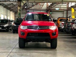 2012 Mitsubishi Triton MN MY12 GLX Double Cab Red 5 Speed Manual Utility.