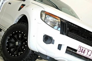 2013 Ford Ranger PX XL 2.2 Hi-Rider (4x2) White 6 Speed Automatic Super Cab Chassis.
