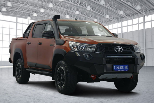 Used Toyota Hilux GUN126R Rugged X Double Cab Victoria Park, 2019 Toyota Hilux GUN126R Rugged X Double Cab Orange 6 Speed Sports Automatic Utility