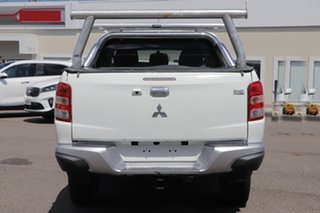 2016 Mitsubishi Triton MQ MY17 GLS Double Cab White 5 Speed Sports Automatic Utility