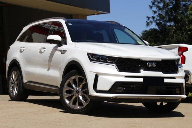New Kia Sorento MQ4 MY21 GT-Line Bundamba, 2020 Kia Sorento MQ4 MY21 GT-Line Snow White Pearl 8 Speed Sports Automatic Wagon