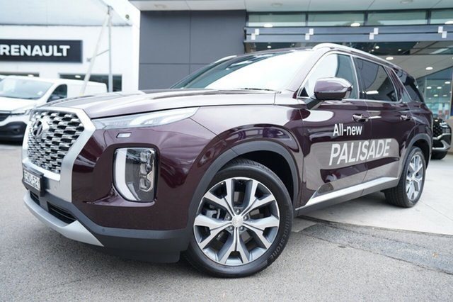 Demo Hyundai Palisade LX2.V1 MY21 Highlander AWD Brookvale, 2020 Hyundai Palisade LX2.V1 MY21 Highlander AWD Sierra Burgundy 8 Speed Sports Automatic Wagon