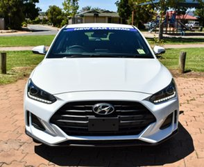 2019 Hyundai Veloster JS MY20 Coupe Chalk White 6 Speed Automatic Hatchback.