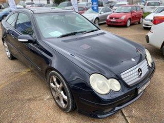 2007 Mercedes-Benz C-Class W203 MY07 C180 Kompressor Avantgarde Black 5 Speed Automatic Sedan.