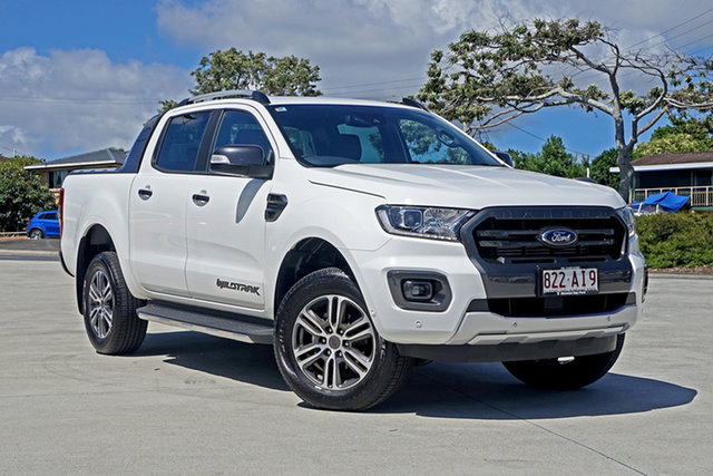 Used Ford Ranger PX MkIII 2020.75MY Wildtrak Capalaba, 2020 Ford Ranger PX MkIII 2020.75MY Wildtrak Arctic White 10 Speed Sports Automatic