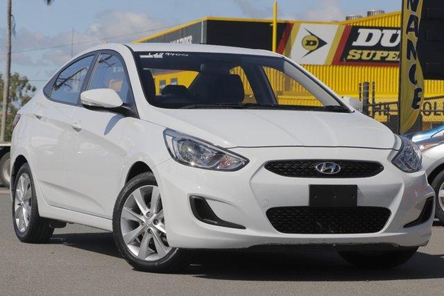 Used Hyundai Accent RB6 MY19 Sport Rocklea, 2018 Hyundai Accent RB6 MY19 Sport Chalk White 6 Speed Sports Automatic Sedan